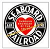 Seaboard Railroad Clock - T-shirts - Magnets  - Mugs - Decals - Lighters