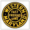 Western Maryland Railroad Clock - T-shirts - Magnets  - Mugs - Lighters